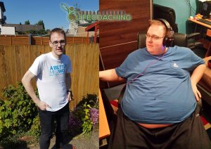 Image of Dave before and after his weight loss journey