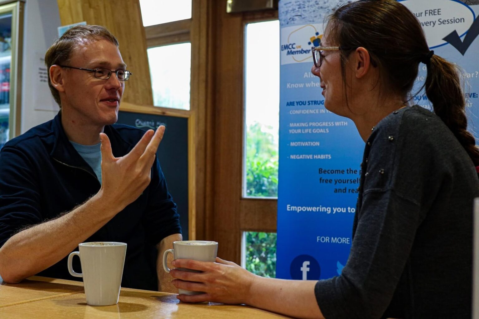 David Supporting Client On Life Coaching Journey